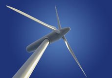 Single wind turbine or generator Royalty Free Stock Photos