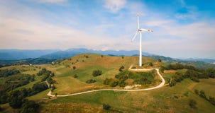 Single wind turbine. Royalty Free Stock Photo
