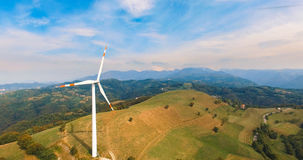 Single wind turbine. Royalty Free Stock Images