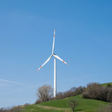 Single wind turbine Stock Photos