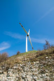 Single wind turbine Stock Images