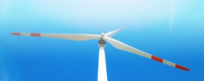 Single wind turbine. Produces green clean energy Stock Photography