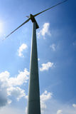 Single wind turbine propeller Stock Photography