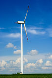 Single wind turbine propeller Royalty Free Stock Photo