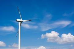 Single wind turbine propeller Royalty Free Stock Images