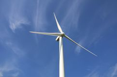 Single wind turbine. With sky background Royalty Free Stock Photo