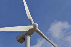 Single windmill for renewable electric energy production Royalty Free Stock Photos