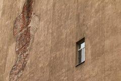 Single window on facade Royalty Free Stock Photography