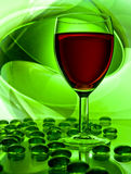 Single wine glass Stock Photo
