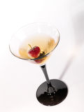 Single wineglass with alcohol drink Stock Images