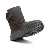 Single winter boot Stock Photos