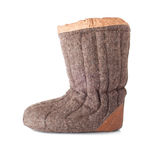 Single Winter Boot Stock Images