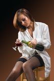 Single woman show-1 Stock Image