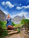 Single woman traveling Royalty Free Stock Image