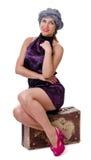 Single Woman Traveling Stock Image