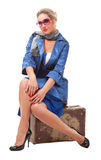 Single woman traveling Royalty Free Stock Photos