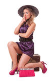Single woman traveling Stock Photography