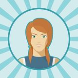 Single woman vector avatar. Stock Photos