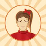 Single woman vector avatar. Royalty Free Stock Photos