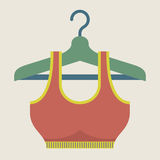 Single Women Sport Bra On Hanger Royalty Free Stock Photos