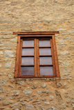 Single Wood Framed Window Stock Images