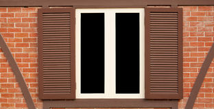 Single wood old window Royalty Free Stock Image