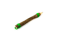 Single wood pencil Royalty Free Stock Photography