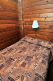 Single wooden bed Royalty Free Stock Image