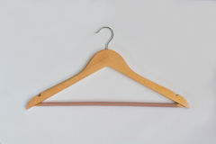 Single Wooden Coat Hanger Stock Images
