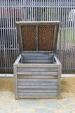 Single Wooden Composting Bin Royalty Free Stock Photo