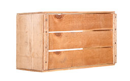 A single wooden crate isolated Royalty Free Stock Images