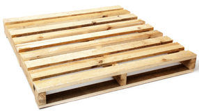 Single Wooden Pallet Royalty Free Stock Photography