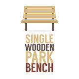 Single Wooden Park Bench On White Background Stock Photos