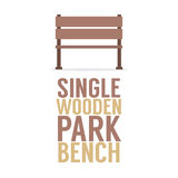 Single Wooden Park Bench On White Background Stock Images