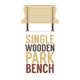 Single Wooden Park Bench On White Background Royalty Free Stock Photo
