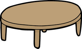 Single Wooden Table Royalty Free Stock Photo