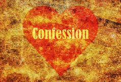 Single word Confession Royalty Free Stock Photo
