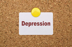 Single word Depression Royalty Free Stock Photo