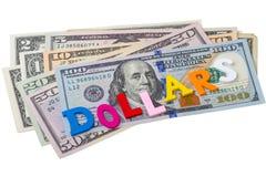 Single word - dollars Stock Photo