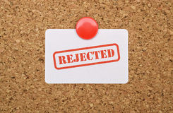 Single word Rejected stock photo