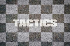Single word Tactics Stock Photos