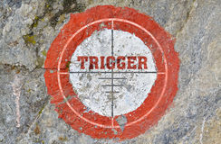 Single word Trigger Stock Image