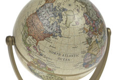 Single world globe Royalty Free Stock Images