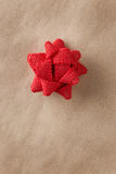 Single wrapping bow Royalty Free Stock Photos