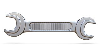 Single wrench tool 3D. Render illustration isolated on white background vector illustration