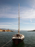Single yacht Royalty Free Stock Photography