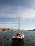 single yachten Royaltyfri Fotografi