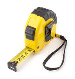 Single yellow and black tape measure Stock Images