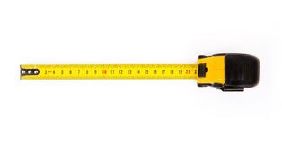 Single yellow and black tape measure Royalty Free Stock Photos