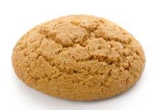 Single yellow cookie on white background Stock Photos